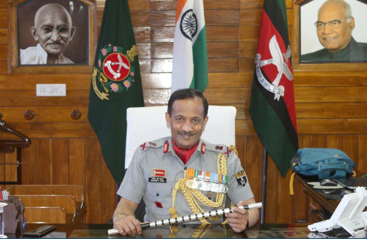Lt. General Pradeep Chandran Nair takes charge as DG of Assam Rifles   అస్సాం రైఫిల్స్ DGగా లెఫ్టినెంట్ జనరల్ ప్రదీప్ చంద్రన్ నాయర్ బాధ్యతలు స్వీకరించనున్నారు  _40.1