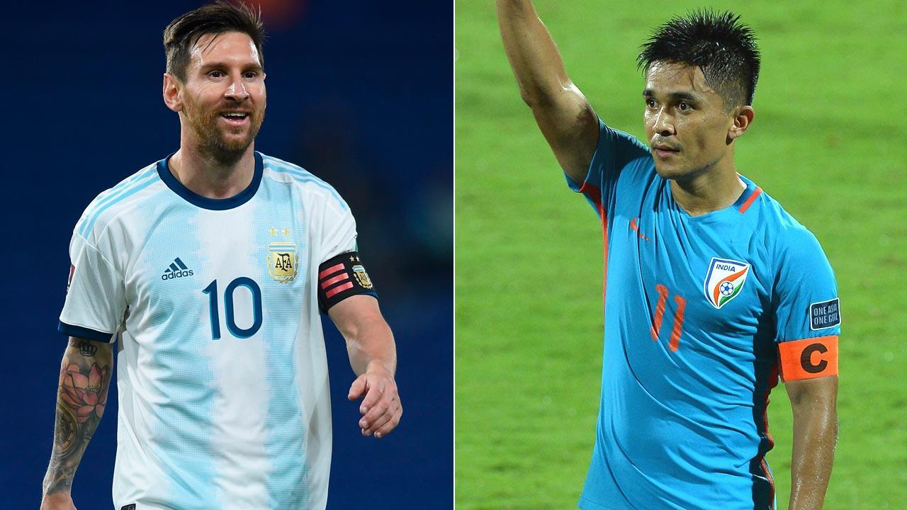 Sunil Chhetri surpasses Argentina's Lionel Messi   అర్జెంటీనాకు చెందిన లియోనెల్ మెస్సీని అధిగమించిన సునీల్ ఛెత్రి  _40.1
