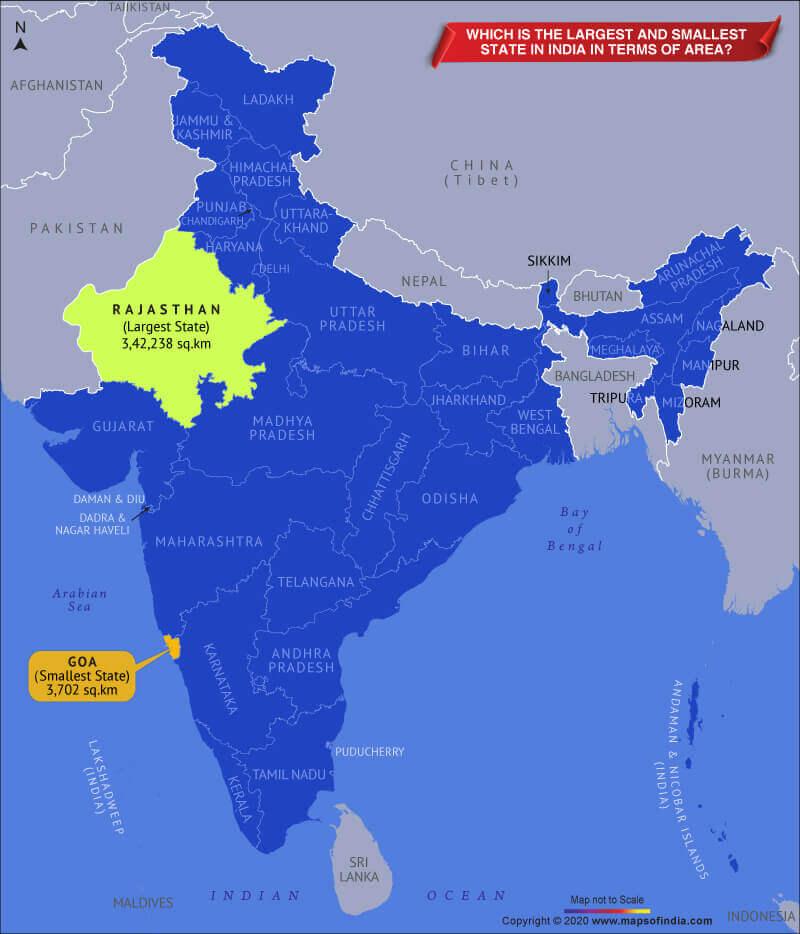 భారతదేశంలో అతిపెద్ద మరియు అతి చిన్న రాష్ట్రాలు | Largest and Smallest States in India | Static GK PDF in Telugu |_60.1
