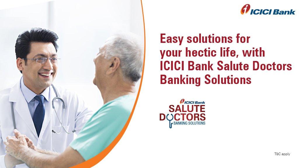 ICICI Bank launches 'Salute Doctors', banking solution for doctors | వైద్యులకు బ్యాంకింగ్ పరిష్కారం కోసం, 'సెల్యూట్ డాక్టర్స్'ను ప్రారంభించిన ఐసిఐసిఐ బ్యాంక్ |_40.1