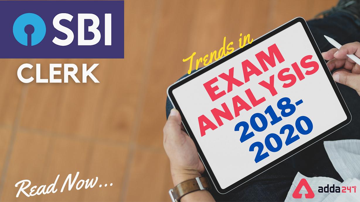 SBI Clerk Prelims Exam Analysis: Trend 2018, 2019 & 2020   SBI 2018, 2019 & 2020 పరీక్ష విశ్లేషణ  _40.1