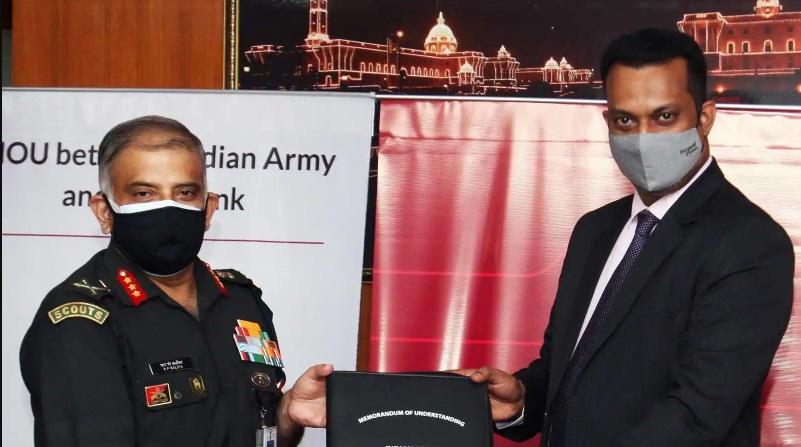 Axis Bank signs MOU with Indian Army to offer defence service salary package | డిఫెన్స్ సర్వీస్ శాలరీ ప్యాకేజీని అందించడానికి భారత సైన్యంతో యాక్సిస్ బ్యాంక్ ఎంఒయు చేసుకుంది |_40.1
