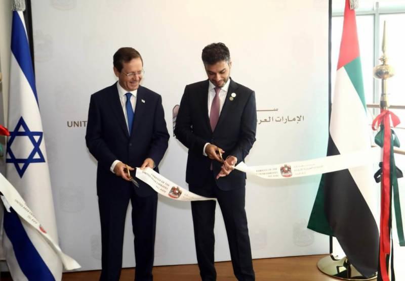 UAE becomes 1st Gulf nation to open embassy in Israel | UAE,ఇజ్రాయెల్లో రాయబార కార్యాలయాన్ని ప్రారంభించినమొదటి గల్ఫ్ దేశంగా అవతరించింది |_40.1