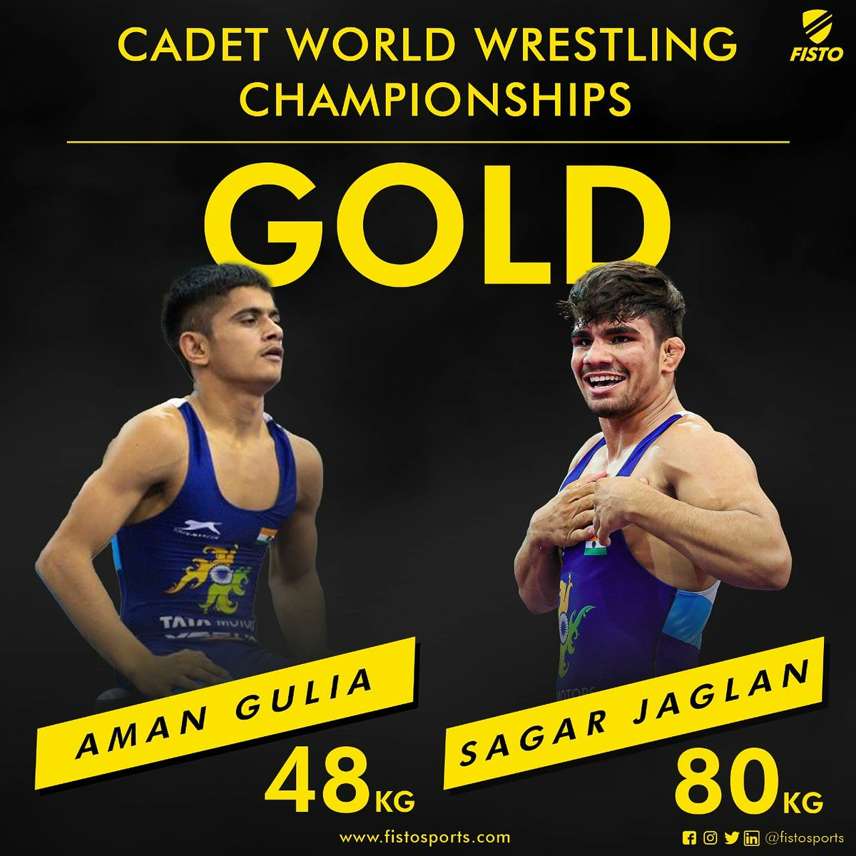 Aman Gulia and Sagar Jaglan become cadet world champions | అమన్ గులియా, సాగర్ జగ్లాన్ క్యాడెట్ ప్రపంచ ఛాంపియన్లుగా నిలిచారు |_40.1
