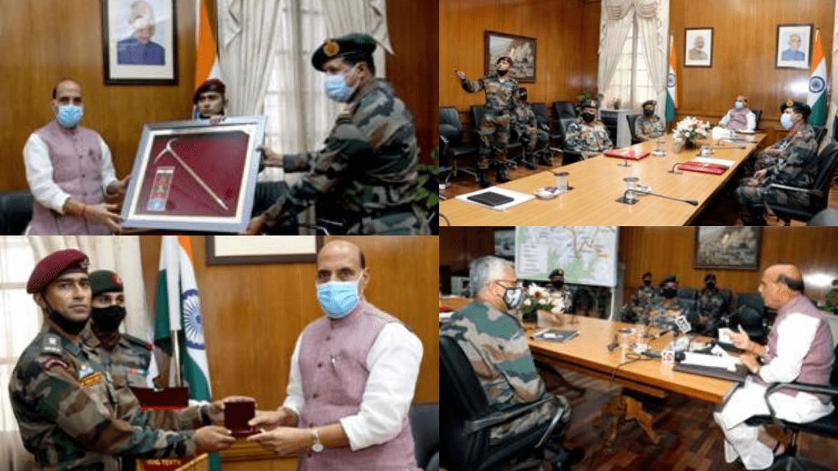 "Rajnath Singh flags-in Indian Army's Skiing Expedition ""ARMEX-21""   రాజ్ నాథ్ సింగ్ ఇన్ ఇండియన్ ఆర్మీ యొక్క స్కీయింగ్ ఎక్స్ పెడిషన్ ""ఆర్మెక్స్-21"" ని ప్రారంభించారు  _40.1"