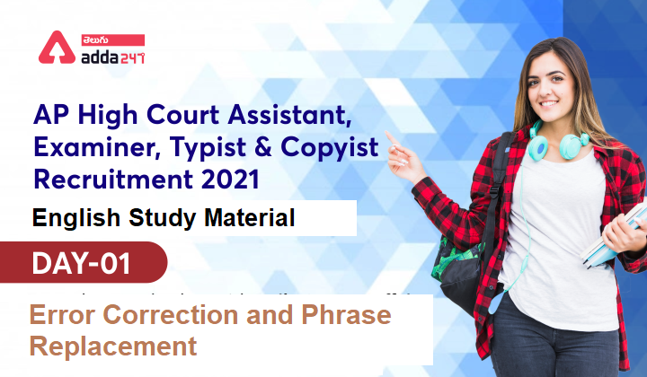 AP High Court Assistant English Study Material | Error Correction |_40.1