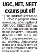 UGC NET, NEET Ph.D., JNU Entrance Exam Postponed |_30.1