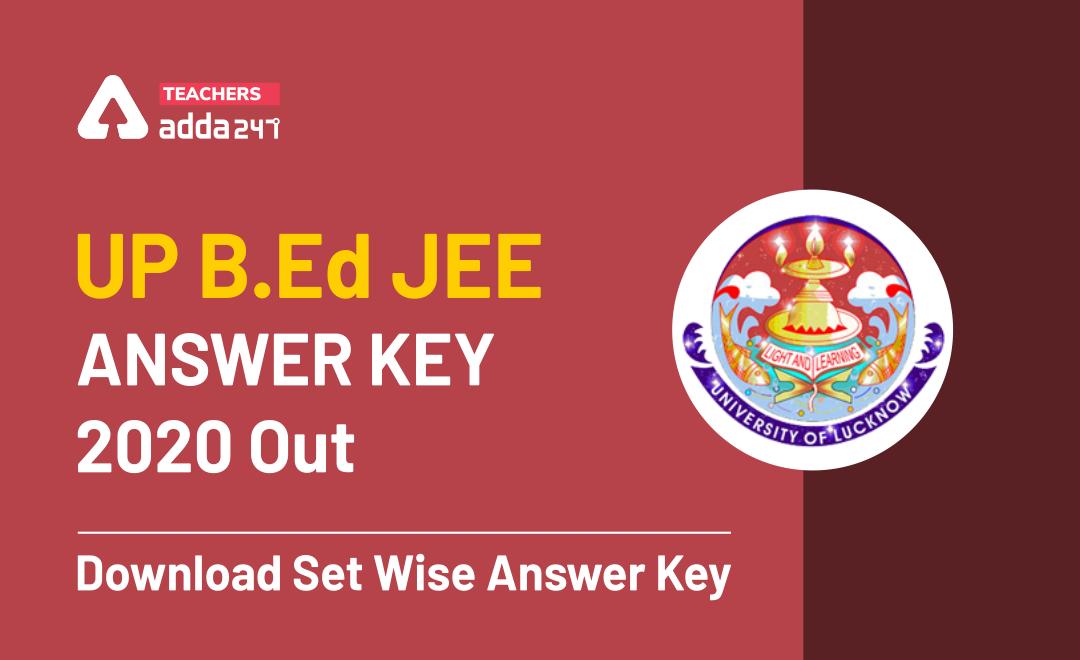 UP B.Ed JEE Answer Key 2021 Out: Download Set Wise Answer Key_20.1